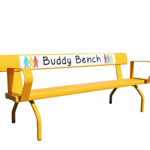 2 MTR FREE-STANDING BUDDY BENCH WITH BACKREST 2