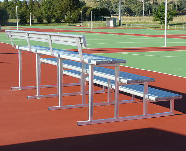 Felton 3 Tier Double Plank Spectator Seating