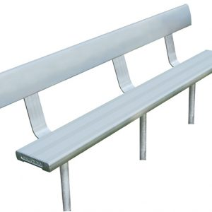 3mtr In-Ground Bench Seat With Backrest