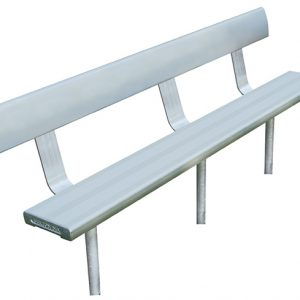 4mtr In-Ground Bench Seat With Backrest