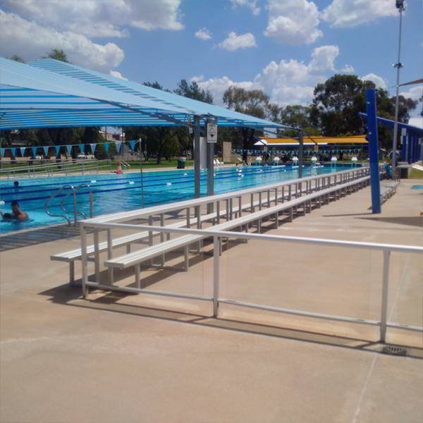 Felton 3 Tier Tiered Seating at Forbes Swimming Pool