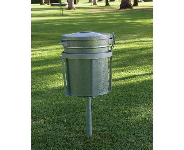 Felton In-Ground Galvanised Bin Stand