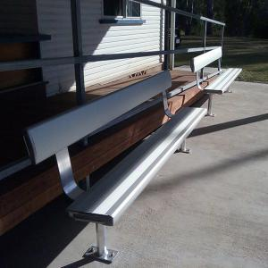 Felton Above Ground Bench Seat with Backrest at Theodore Bowls Club