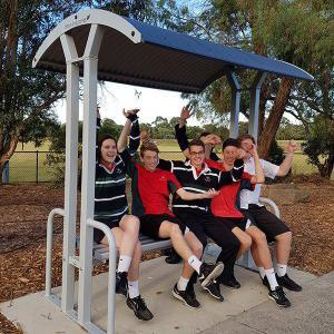 Felton Double Bench Shelter at Aquinas College