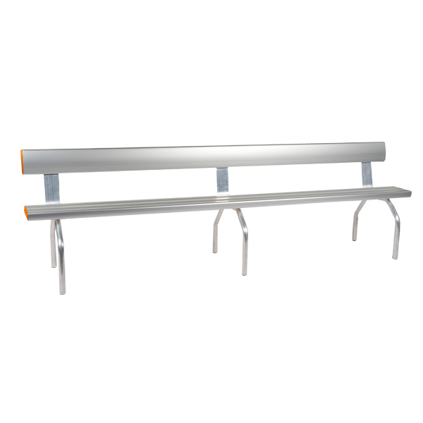 Industry Free Standing Bench Seat with Back Rest
