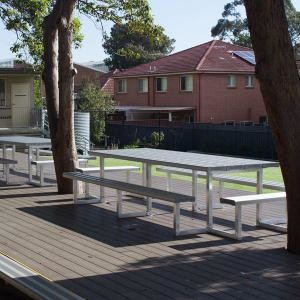 Felton tables and chairs seating St. Mary's Rydalmere