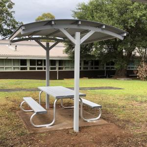 Felton Combination of Free Standing BBQ Shelter and Popular Park Setting at Georges River College