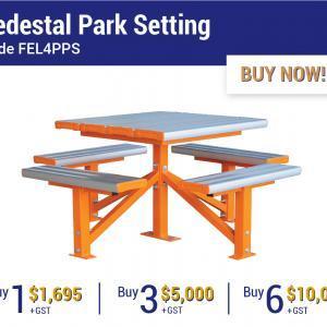 Felton Industries Pedestal Park Settings - Super Savings Season