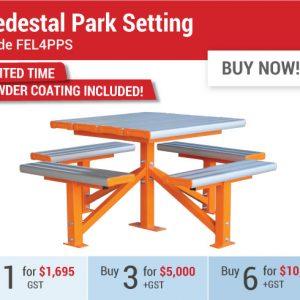 Felton EOFY Pedestal Park Setting